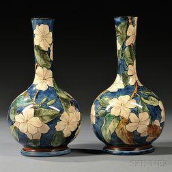 Pair of Doulton Lambeth Faience Vases