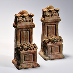 Pair of Art Pottery Architectural Corbels