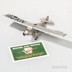 Lindbergh's Ryan N-X-211 Spirit of St. Louis   Aviation Model