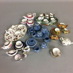 Approximately Forty-two Pieces of Miniature Ceramic Teaware