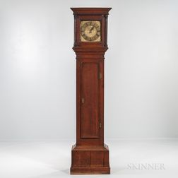Early English Thirty-hour Brass-dial Longcase Clock