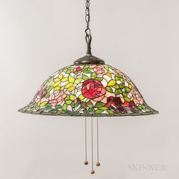 Tiffany-style Mosaic Glass Hanging Lamp