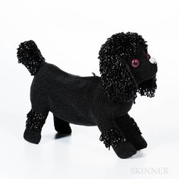 Walborg Black Beaded Poodle Clutch