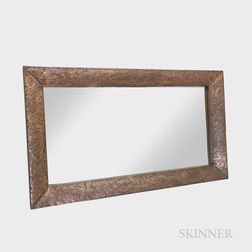 Albert Gilles (French/Canadian, 1895-1979) Copper Repoussé Framed Mirror