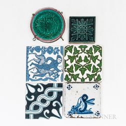 Group of Decorative Tiles