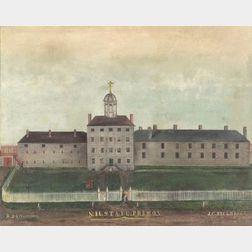 American School, 19th Century      N.H. STATE PRISON 1850.