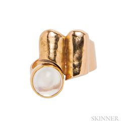 18kt Gold and Moonstone Ring, Christa Bauer