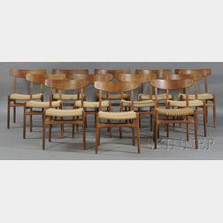 Twelve Hans Wegner Dining Room Chairs