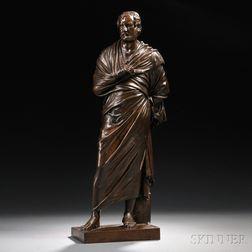 Barbedienne Bronze of a Roman Statesman