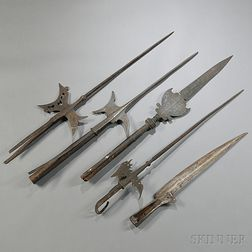Five Pieces of Early Iron Weaponry