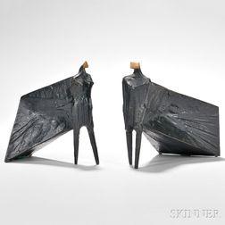Lynn Chadwick (British, 1914-2003)      Pair of Cloaked Figures III