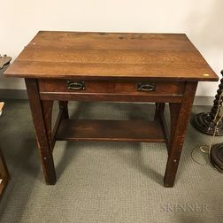 Stickley Arts and Crafts Oak Desk