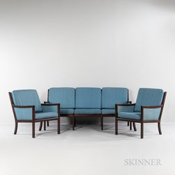 Illum Wikkelsøfor CFC Silkeborg 'Genius' Settee and Two Lounge Chairs