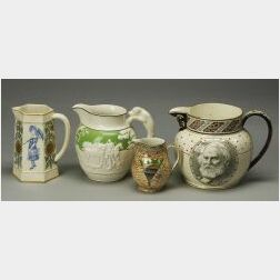 Four Wedgwood Queen's Ware Jugs