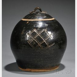 Bernard Leach (1887-1979) Pottery Covered Vessel