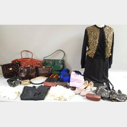 Box of Vintage and Designer Clothing and Accessories