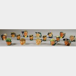 Sixteen Assorted Royal Doulton Ceramic Character Jugs