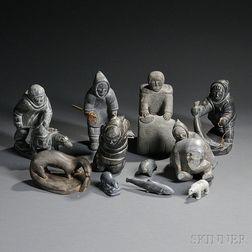 Eleven Inuit Figures