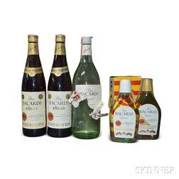 Mixed Bacardi, 2 200ml bottles 1 750ml bottle 2 4/5 quart bottles