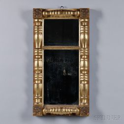 Classical Turned Gilt-gesso Split-baluster Mirror