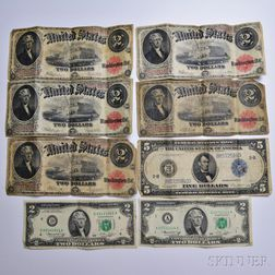 Eight United States Bank Notes