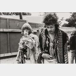 Jim Marshall (American, 1936-2010)      Jimi Hendrix and Brian Jones, Monterey Pop Festival