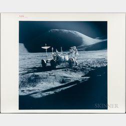 Apollo 15, Lunar Roving Vehicle and James Irwin, EVA-1, August 1971.