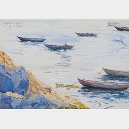 Attributed to Frederick Crowninshield (American, 1845-1918)      Boats at Mooring