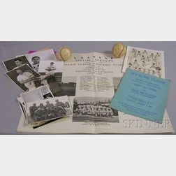 Group of Circa 1944 South Pacific U.S. Army Air Force Baseball and Special Services Related   Items
