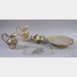Group of Five Silver Plated Serving Pieces