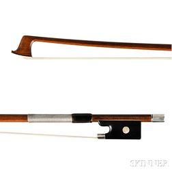 Silver-mounted Violin Bow, Carl Albert Nurnberger