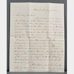Davis, Jefferson (1808-1889) Autograph Letter Signed, 22 January 1861.