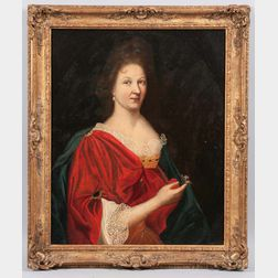 Continental School, 18th/19th Century    Lady in Red