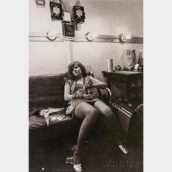 Jim Marshall (American, 1936-2010)      Janis Joplin, Backstage at the Winterland, San Francisco