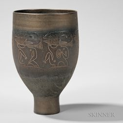 Edwin and Mary Scheier Decorated Vase