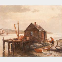 Harry Russell Ballinger (American, 1892-1993)      Fisherman's Shack.
