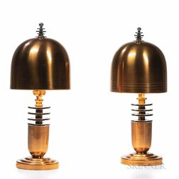 Pair of Greist Art Deco Table Lamps