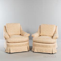 Pair of Brunschwig & Fils Custom Over-upholstered Madeline Chairs.   Estimate $300-500