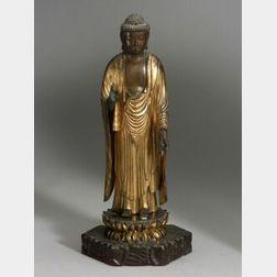 Lacquered Wood Figure of the Buddha Amida