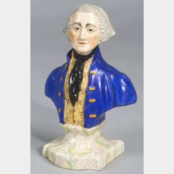 Staffordshire Pottery Bust of George Washington