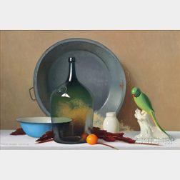 Robert Douglas Hunter (American, 1928-2014)      Still Life Arrangement with a Parrot