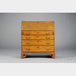 Chippendale Tiger Maple Slant-lid Desk
