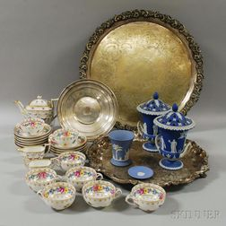 Group of Ceramics and Silver-plate