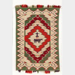 Navajo Germantown Pictorial Weaving