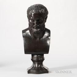 Wedgwood Black Basalt Library Bust of Zeno
