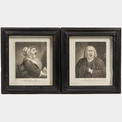 Pair of Mezzotint Prints Heigh Ho