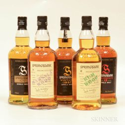 Mixed Springbank, 5 bottles