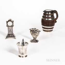 Four Pieces of Continental Silver Tableware