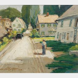 Walter Farndon  (American, 1876-1964)      Lot of Two Landscapes:  East Dorset Vermont