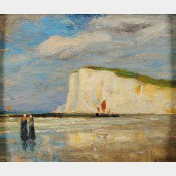 George Wainright Harvey (American, 1855-1930)      Chalk Cliffs, Dieppe, France